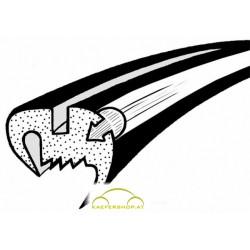 Seitenfensterdichtung m. Nut f. Plastik-Zierrahmen,Käfer Limousine li/re, 10.52-7.64