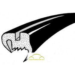 Heckscheibendichtung o. Nut, flaches Gummiprofil, Käfer Limousine, 8.64-7.71 & ab 1.78