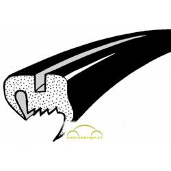 Heckscheibendichtung o. Nut, flaches Gummiprofil, Käfer Limousine, 8.71-12.77 & ab 9.85