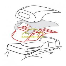 Innenhimmel Cabrio, weiss perforiert, 8.72-7.79