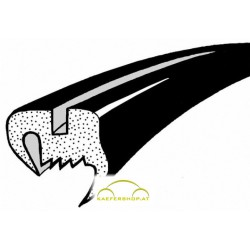 Seitenfensterdichtung o. Nut, flaches Gummiprofil, Käfer Limousine,  li / re, .64-