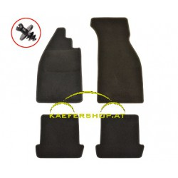 Fußraummatten, schwarz, ohne Aufdruck