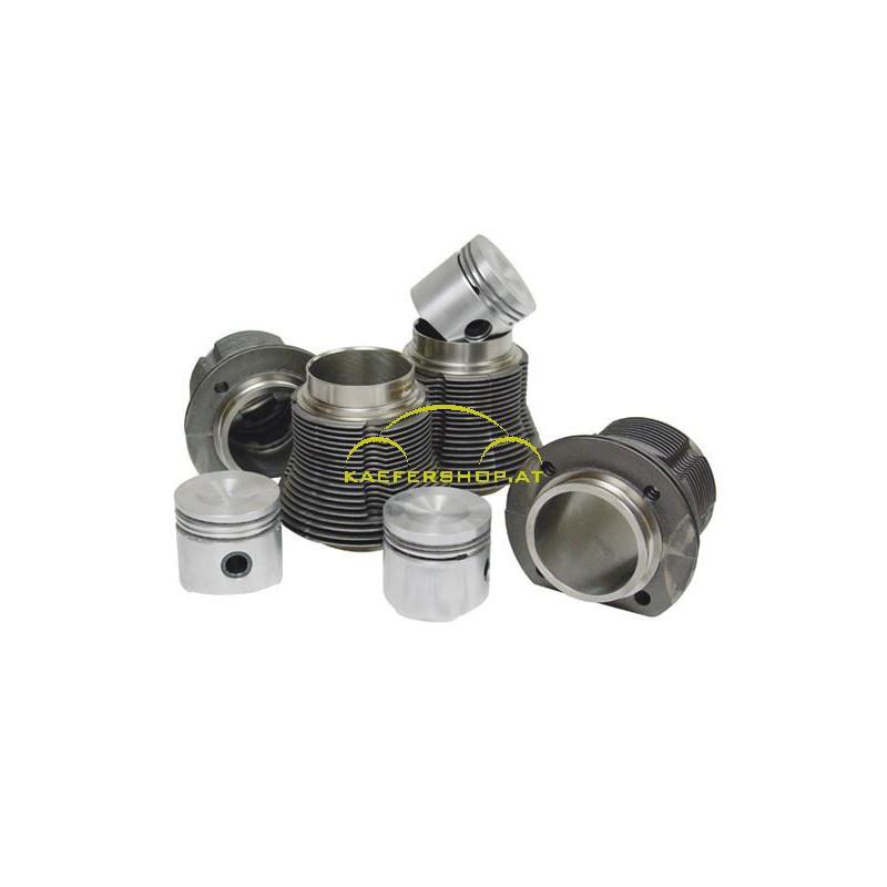 Kolben und Zylinder, 77x69mm, 1300ccm (Mulde)