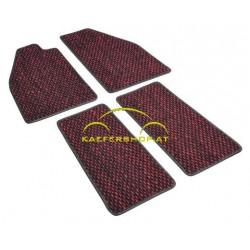 Fußmatten, Kokos, -57, rot/schwarz