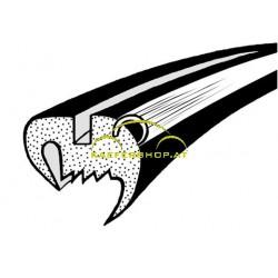 Seitenfensterdichtung m. Nut f. Alu-Zierrahmen, Käfer Limousine, li / re, 10.52-7.64