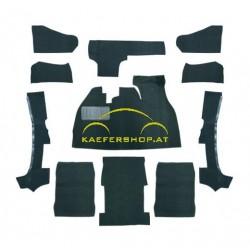 Teppichsatz für Cabrio, schwarz, 1303