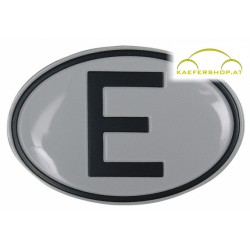 "Nationalitätsschild ""E"",Alu"