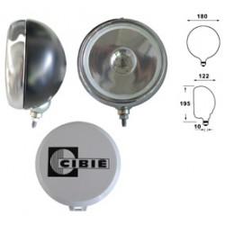 Cibie Fernscheinwerfer H1, Gehäuse schwarz, Rahmen Chrom, Stück