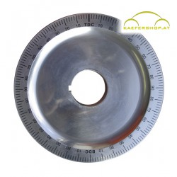 Aluminium-Riemenscheibe, 146mm, Std. schwarze Gradskala