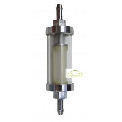 Benzinfilter Chrom/Glas, 6 mm