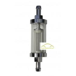 Benzinfilter Chrom/Glas, 8 mm