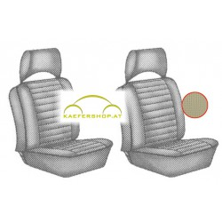 Sitzbezüge, Vordersitze, beige, 73-76