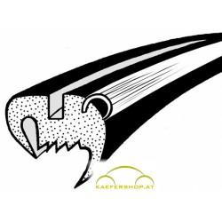Frontscheibendichtung mit Nut f. Alu-Zierrahmen, Käfer, Cabrio, 8.64-7.72
